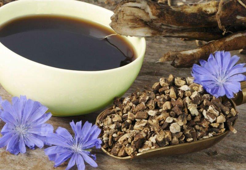 Корень цикория и кофейный напиток