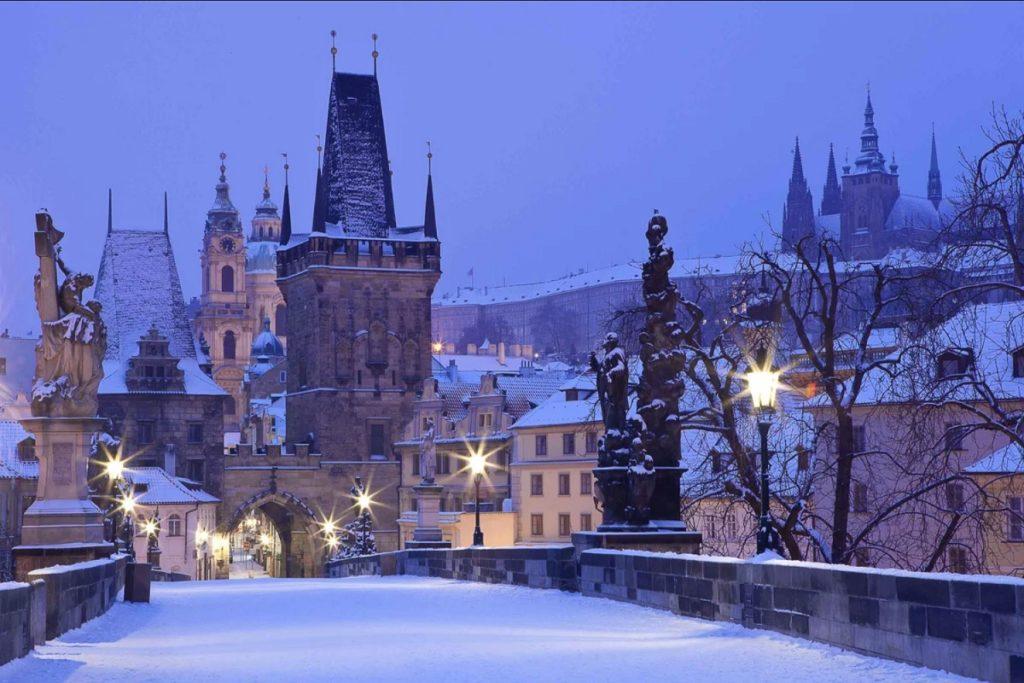 Прага в зиму